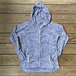 Athleta No Sweat Cinch Waist Hoodie Gray